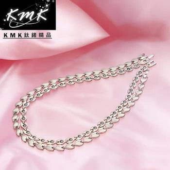KMK鈦鍺精品【荷葉風情】純鈦+磁鍺健康項鍊