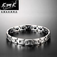 KMK鈦鍺 ~祭典沙印紋~純白鋼 ^#43 磁石健康手鍊