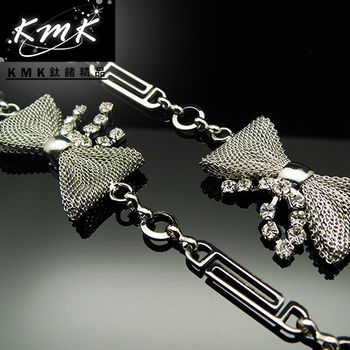 KMK鈦鍺精品《蝴蝶情》多功能腰鍊、項鍊、配飾