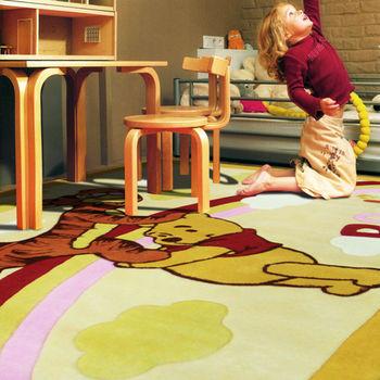 【范登伯格進口地毯】迪士尼維尼熊手工立體剪花遊戲地毯-140x200cm