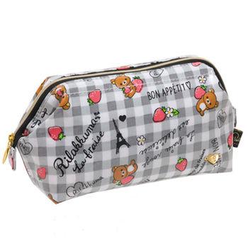 San-X 拉拉熊巴黎草苺系列防水化妝包