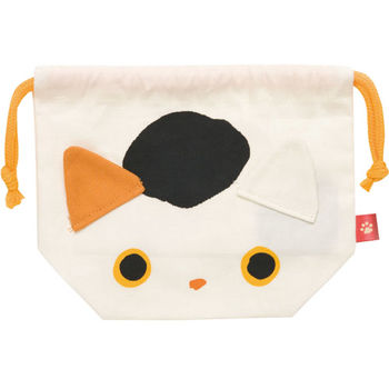 San-X 小襪貓招福貓系列棉布便當束口袋 小福貓