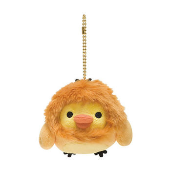 San-X 拉拉熊12星座毛絨公仔吊飾 小雞獅子座