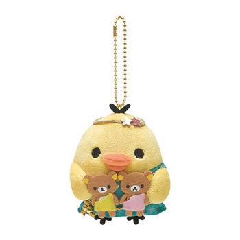 San-X 拉拉熊12星座毛絨公仔吊飾 小雞雙子座
