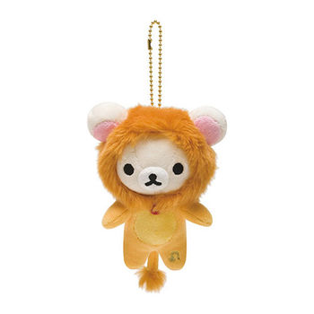 San-X 拉拉熊12星座毛絨公仔吊飾 懶妹獅子座