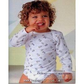 【西班牙 Abanderado】(b954) 嬰兒連身衣中棉長袖小企鵝 (6/12/18)