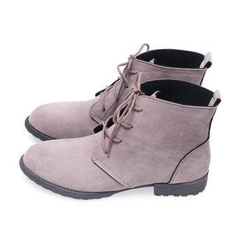 FUFA 冬色絨布高筒靴(FA28) - 灰