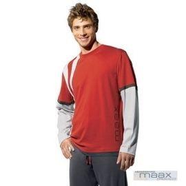 【西班牙MAAX】(9653T)男性時尚休閒居家服睡衣_上衣 (紅)
