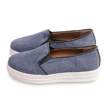 FUFA 舒適厚底懶人鞋(FF11) - 藍色