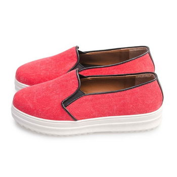 FUFA 舒適厚底懶人鞋(FF11) - 紅色