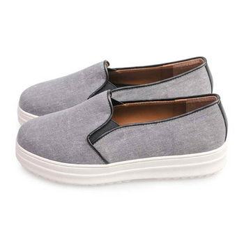 FUFA 舒適厚底懶人鞋(FF11) - 灰色