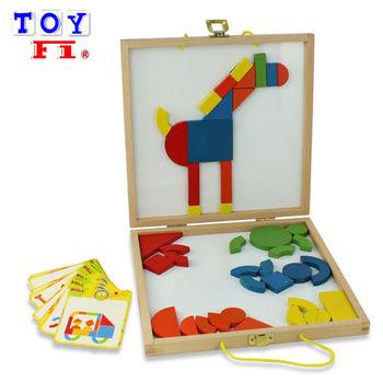 【Toy F1】磁性積木拼圖遊戲組(附拼圖卡)