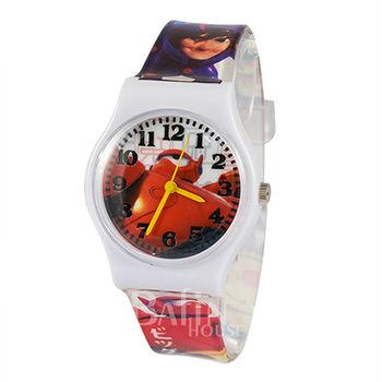 【Disney迪士尼】BIG HERO 6 大英雄天團 杯麵 兒童錶(白)