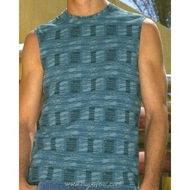 【西班牙 Abanderado】(9619 )男性時尚彈性背心T-shirt 藍(L)
