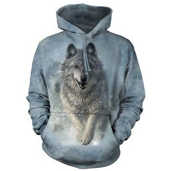 【摩達客】現貨-The Mountain 雪狼開路 長袖連帽T恤