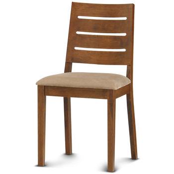 【椅吧】美式鄉村簡約款實木布面餐椅