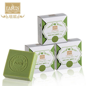 《FASUN琺頌》緊膚天然皂‧橄欖葉-超值3件組