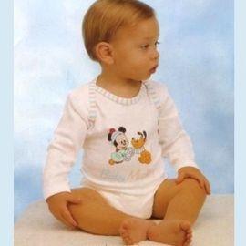 【西班牙 Abanderado】(3947)嬰兒連身包屁衣中綿米老鼠(6/12/18)