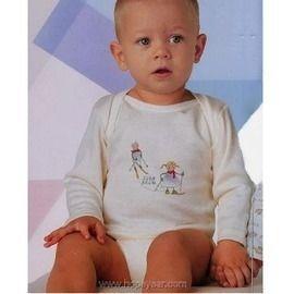 【西班牙 Abanderado】(a951)嬰兒連身衣磨毛長袖淺米底滑雪(12)