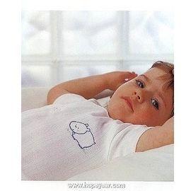 【西班牙 Abanderado】(1935)嬰兒連身衣(短袖開前扣羅紋布-小豬)(6/18)