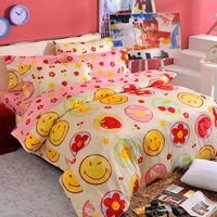 ~Smiley World~~快樂糕點~長纖絲光精梳棉加大雙人床包三件組 ^#40 草莓粉
