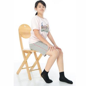 【KEROPPA】7~12歲學童專用毛巾底氣墊短襪x4雙C93003黑色