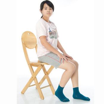 【KEROPPA】7~12歲學童專用吸濕排汗短襪x3雙C93007-B土耳其藍
