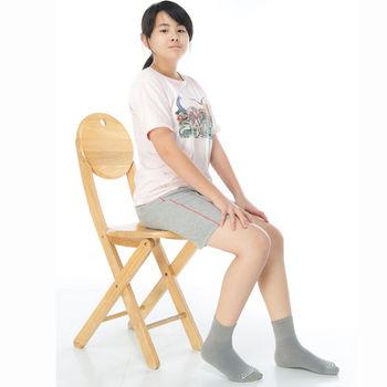 【KEROPPA】7~12歲學童專用吸濕排汗短襪x3雙C93007-B灰色