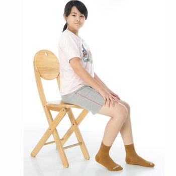【KEROPPA】7~12歲學童專用吸濕排汗短襪x3雙C93007-B咖啡
