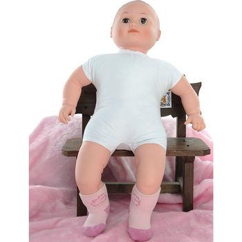 【KEROPPA】MIT0~6個月嬰兒厚底止滑短襪x3雙(淺粉配紅)95001-B