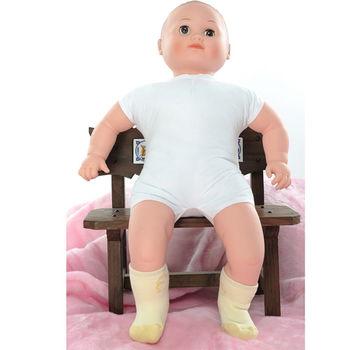 【KEROPPA】MIT0~6個月嬰兒厚底止滑短襪x3雙(淺黃配黃)95001-B