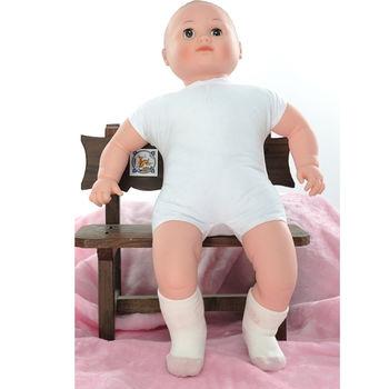【KEROPPA】MIT12~24個月嬰兒厚底止滑短襪x3雙(白配紅)95001-A網