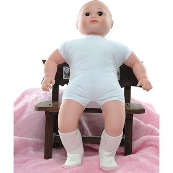 【KEROPPA】MIT6~12個月嬰兒厚底止滑短襪x3雙(白配紅)95001-F