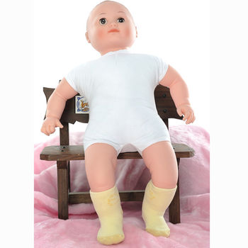 【KEROPPA】MIT12~24個月嬰兒厚底止滑短襪x3雙(黃配綠)95001-A