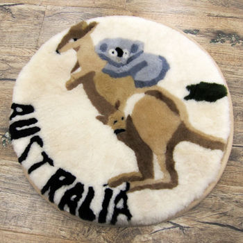 【范登伯格】袋鼠100%羊毛超柔立體止滑圓坐墊-50x50cm