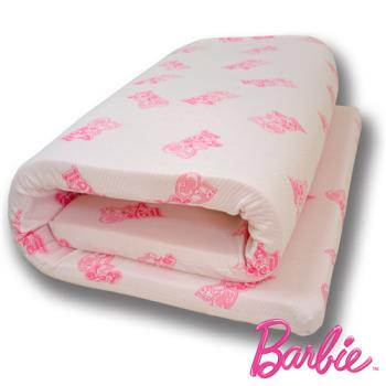 【Barbie】《IM A DOLL》5公分天然乳膠床墊(加大單人3.5尺)