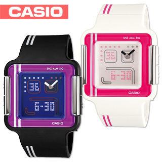 【CASIO 卡西歐】日系-復古電玩小精靈概念錶(LCF-21)