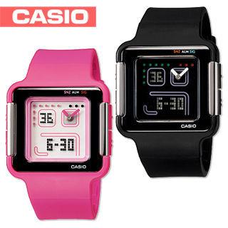 【CASIO 卡西歐】日系-復古電玩小精靈概念錶(LCF-20)