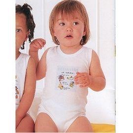 【西班牙 Abanderado】( b958)嬰兒連身衣背心-芝蔴(尺寸18)