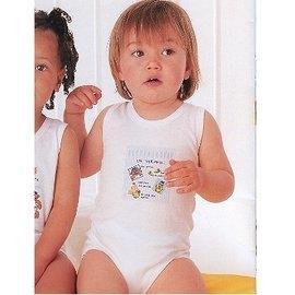 【西班牙 Abanderado】(b958) 嬰兒連身衣背心-芝麻街 (尺寸18)