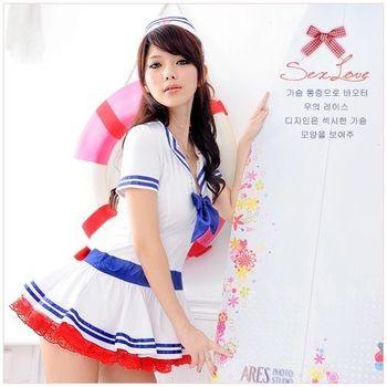 【FunToy 精品】航向愛情‧海軍俏麗蓬裙水手服(3件式)