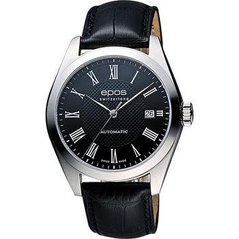 epos 原創系列羅馬機械腕錶-黑 3411.131.20.25.25FB