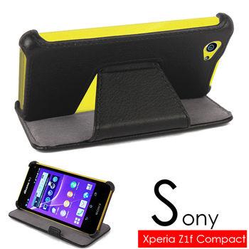 索尼 SONY Xperia Z1 mini Z1f Z1s Compact 專用側掀式可斜立筆記本皮套 保護套