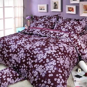 【Novaya諾曼亞】《璽恩》絲光棉雙人四件式鋪棉兩用被床包組