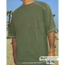 【西班牙 Abanderado】(9627 )男性時尚彈性短袖t-shirt 灰藍(L)