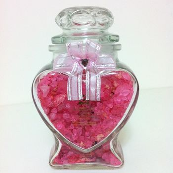 LA BEAU 愛心玫瑰香氛開運沐浴鹽(買一送一)