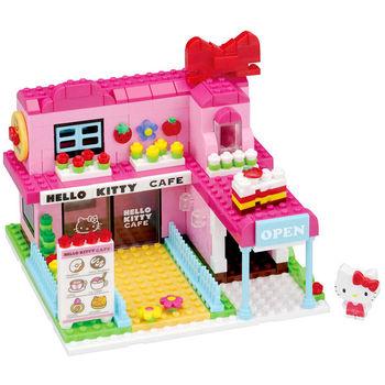 【Nanoblock 迷你積木】HELLO KITTY 粉紅大咖啡廳 PK-007