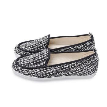 FUFA 小香風毛呢質感懶人鞋(A36) - 黑