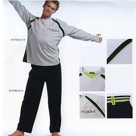 【西班牙MAAX】(9638)男性綿居家休閒服薄長袖睡衣褲(淺灰 L)
