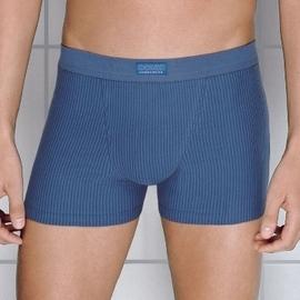 【西班牙 OCEAN)男性時尚舒適中低腰 透氣細直條四角褲(5378b)(S)